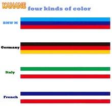"79""/2M Car Hood Vinyl Sticker Body Decal Auto M Color Germany Flag France Flag Italy Flag Stripe For Audi BMW VW Honda Toyota"