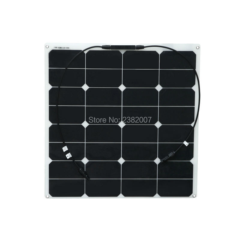 Boguang 1x 50w PV Solar Panel flexible Solar module outdoor sport travel security camema marine yacht RV motor home battery use 200w 2x100w mono flexible solar panel solar module energy roof camper rv yacht solar generators