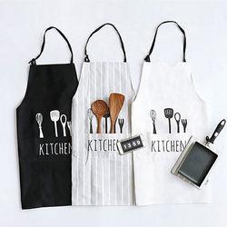2017 nova mulher homem avental comercial restaurante casa bib girado poli algodão cozinha aventais