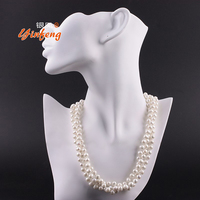 100 Real White Freshwater Pearl Necklace For Woman Natural Pearl Necklace AAA With Potato Shape Pearls