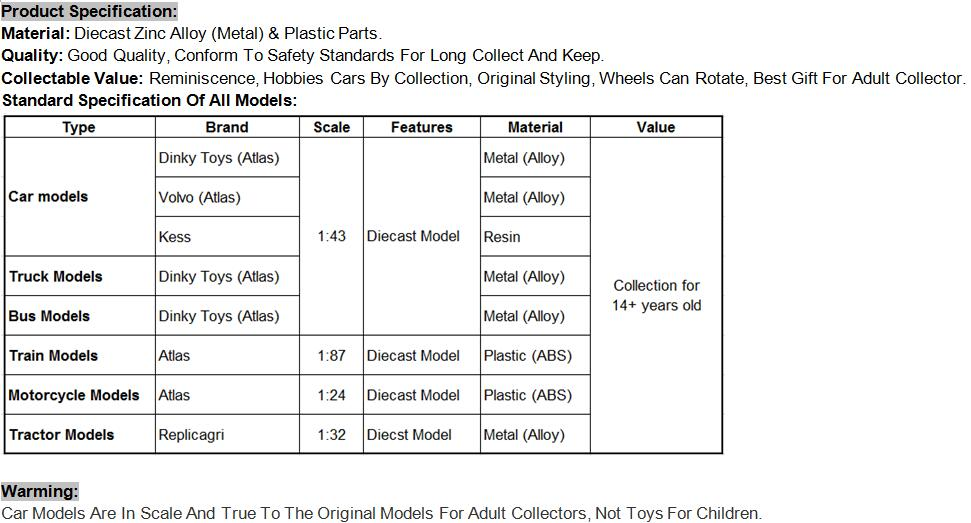 Volvo Car (Product Specification)