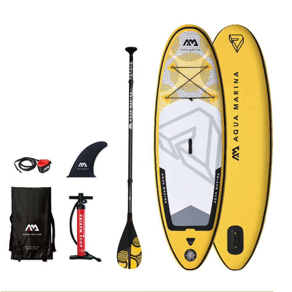 VIBRANT - 2.44m / 10cm Inflatable Sand Up SUP Paddle Board for Kids Children with Carry Backpack / Air Pump / Fin / Safety Rope