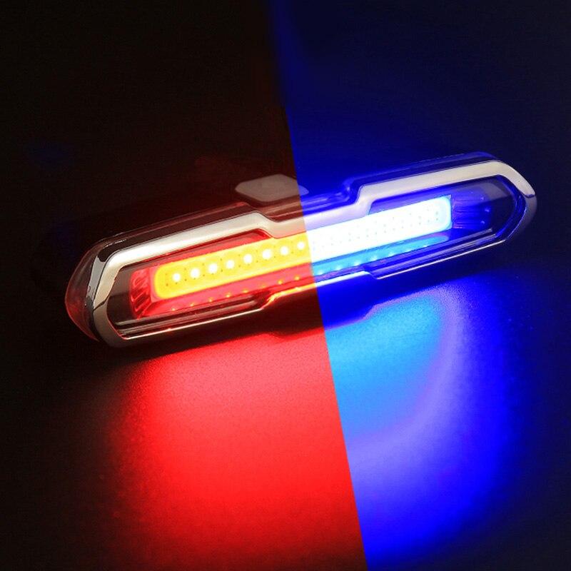 Luz Posterior de La Bicicleta De La Batería de Litio Recargable USB Frontal Luz Trasera LED Bicicleta Ciclismo Casco Luz de Montaje de La Lámpara Accesorios de Bicicletas