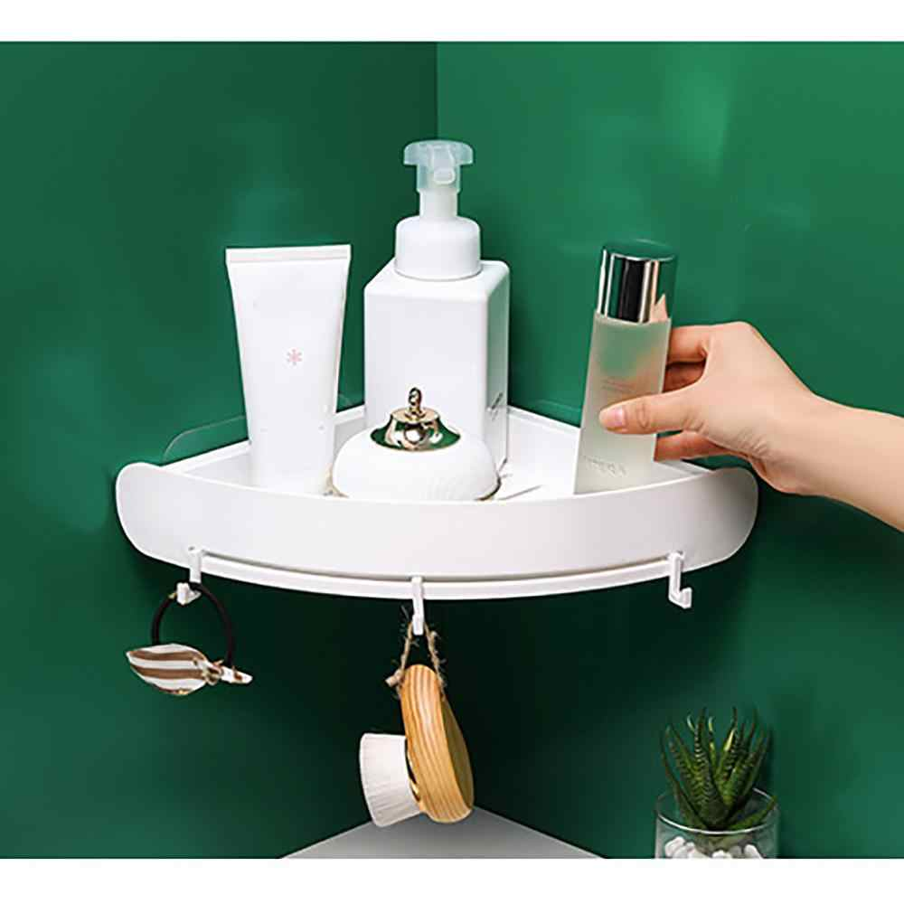 Bathroom bathroom shelf wall hanging suction cup free punching toilet storage rack suction wall shelf Hollow kitchen  5pz