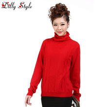 fashion women 100% cashmere knitted sweater long-sleeved pullovers -DL2601