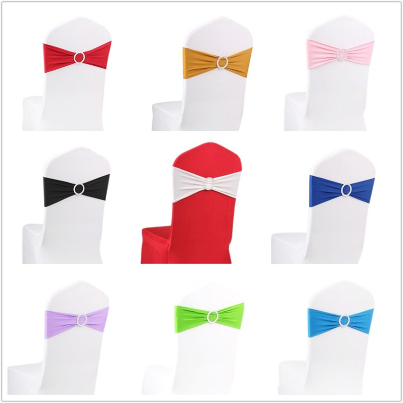 paper chair covers for weddings folding nisse 10 pieces stretch bulk chairs bands with ring buckle wedding decoration white black red pink purple blue hgtxtbss001