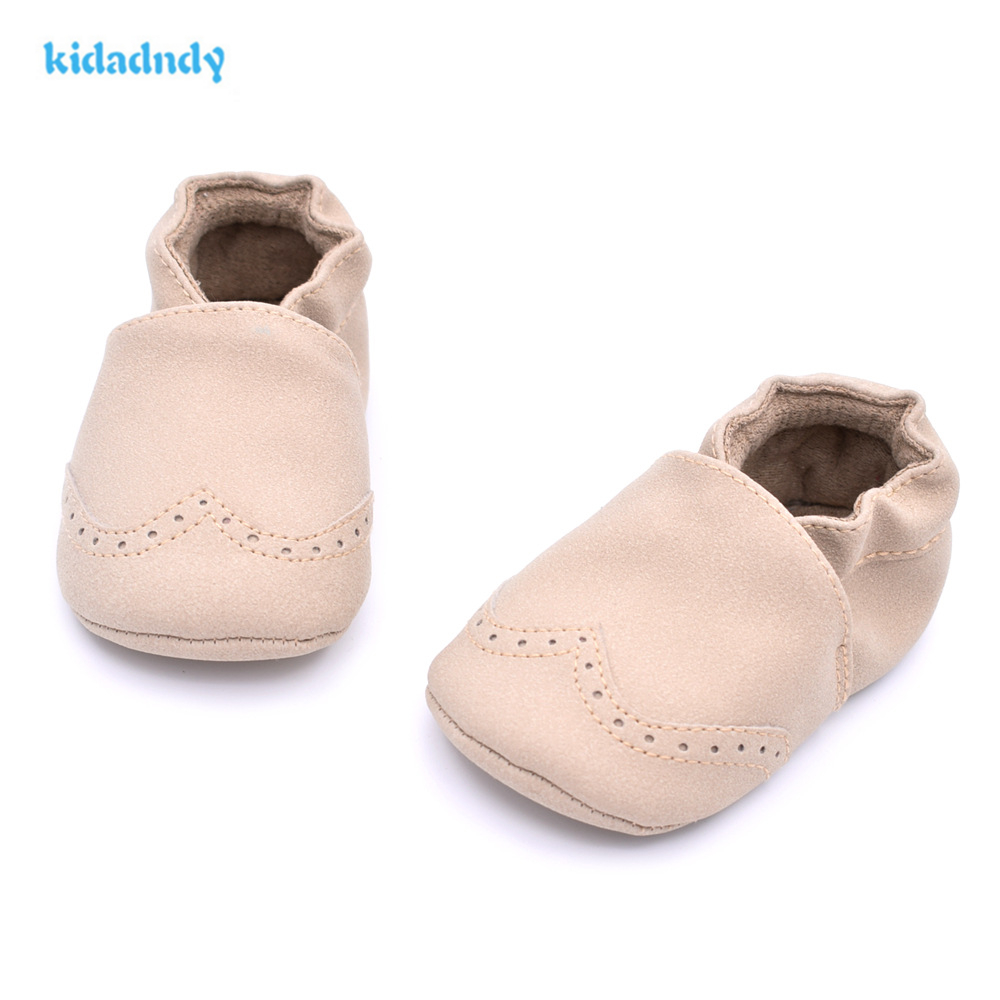 KiDaDndy Baby Shoes 7 Color 2017  Leather Baby Shoes 0-1 Year Old Soft Bottom Baby Step Shoes Kids  Prewalker  YD235LL