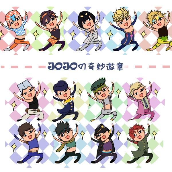 13pcs Anime JoJo's Bizarre Adventure Giorno Giovanna Kakyoin NoriakiBruno Bucciarati Bedge Brooch Pins Cute Funny Badges Gifts