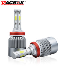 Racbox 80W Car LED Headlight Bulbs Lamp H4 High Low 9006 HB4 with 4 Sides 360 degree LEDs Cool White 6000K 12V 24V Auto Light(China)