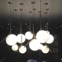 D20/D30CM Modern style living room bedroom minimalist restaurant pendant light Nordic clothing decoration glass ball