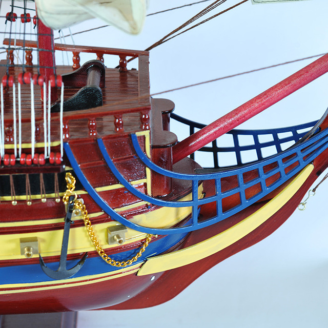 """1 pcs Presentes & Decoração 42 """"San Felipe Detalhada Modelo De Madeira barco à vela Decoração Náutica via transporte do EMS."""