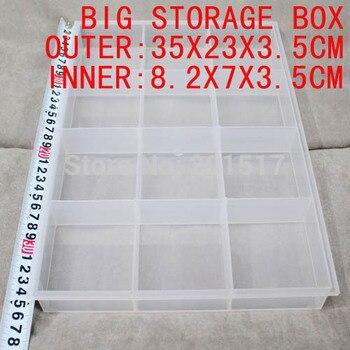 В розницу большой ящик для хранения 12 внутренние коробки идеально подходит для живопись инструмент медицина красота хранения использования высокое качество