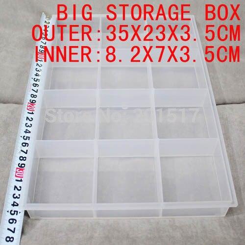 Розничная продажа большой ящик для хранения 12 внутренняя Коробки идеально подходит для живописи инструмент Рыбалка медицины Красота хране...