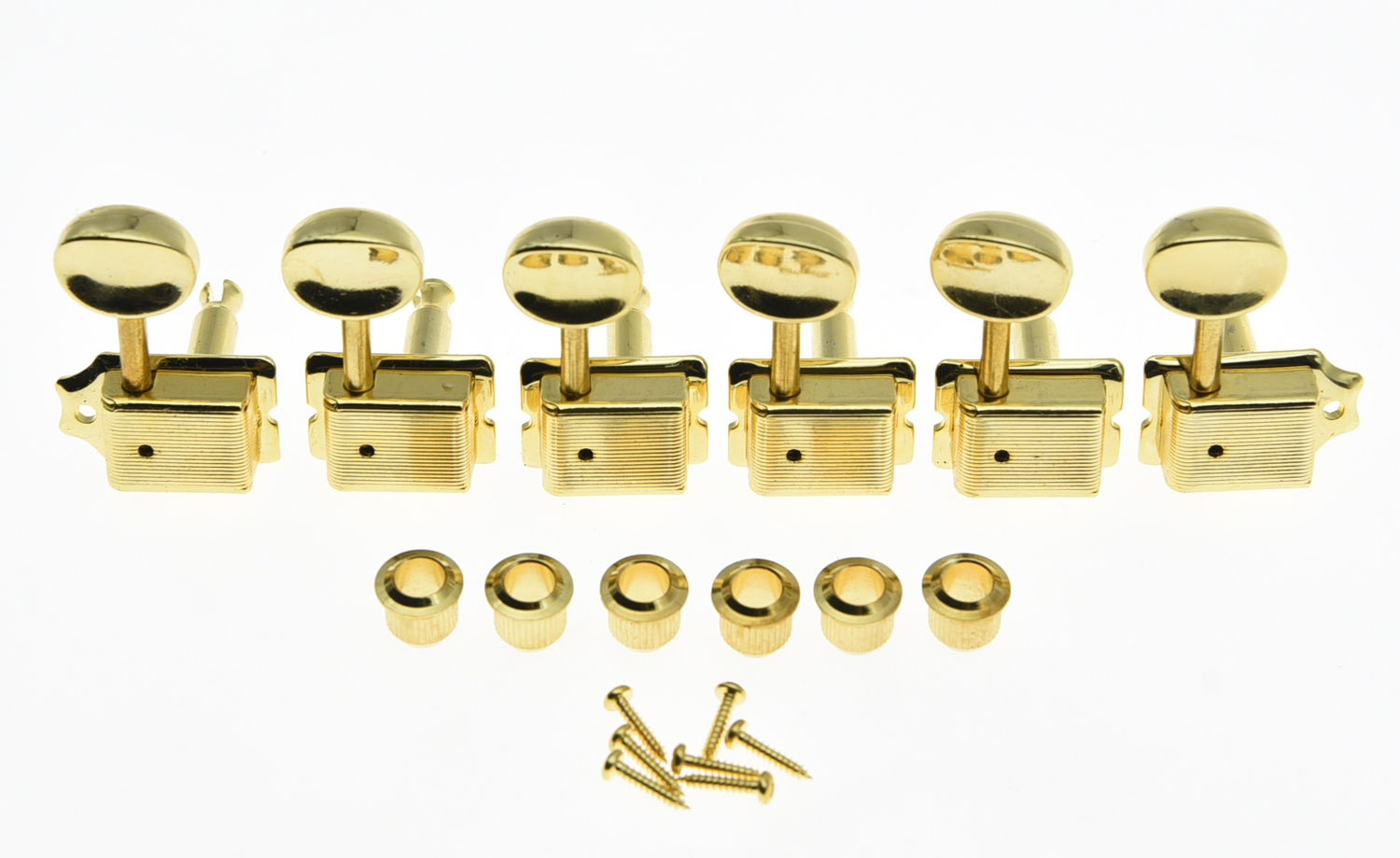 KAISH Vintage Guitar Tuning Keys Guitar Tuners Machine Heads for ST TL Gold yibuy 3r3l black guitar tuning keys machine heads for lp etc guitar