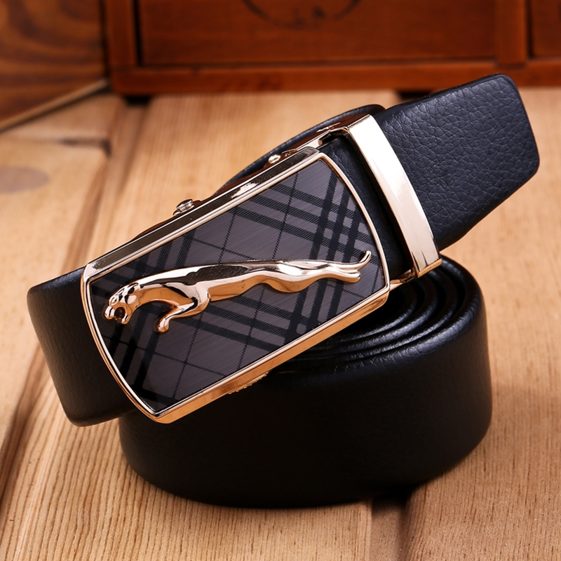 Famous brand   belt   for men top quality luxury leather strap male metal automatic buckle big and tall 160 cm 150 140 business   belt