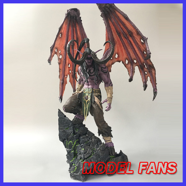 MODEL FANS IN-STOCK wow Illidan 60cm height gk resin statue figure for collection