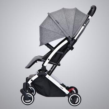 a457c62e3 Alemania actualización cochecito de bebé Ultra ligero cochecito puede  sentarse reclinado de bebé plegable portátil de mano empuje paraguas de  Kinderwagen