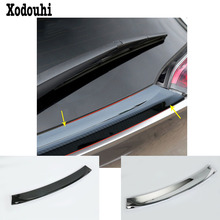 цена на Car ABS chrome Rear door Wing tail Spoiler frame plate trim moulding hoods styling parts 1pcs  For Toyota C-HR CHR 2017 2018