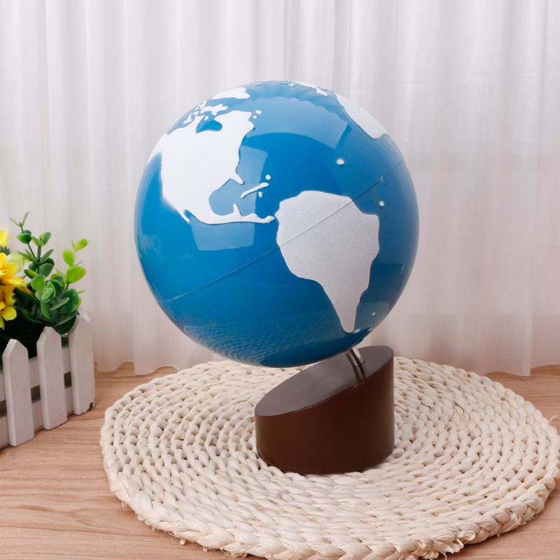 Montessori Geography Material Globe Of World Parts Kids Early Learning Toy