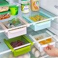 Económico caja de almacenamiento frigorífico fresca capa espaciadora creativo suministros de cocina de almacenamiento en rack contracción tipo cajón
