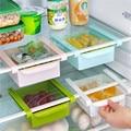 Econômico espaçador camada rack de armazenamento caixa de armazenamento frigorífico fresco criativo material de cozinha gaveta tipo de contração
