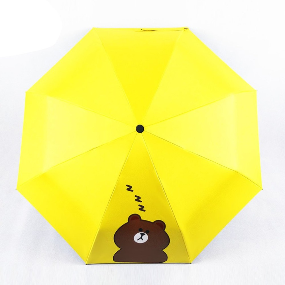 Watercolor Scales Automatic Windproof Travel Umbrella Compact Canopy With Black Glue And UV-resistant Coating