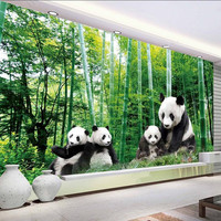 Custom 3D Photo Wallpaper for Living Room Kids Bedroom Home Decor Forest National Treasure Giant Panda HD Background Wall Mural