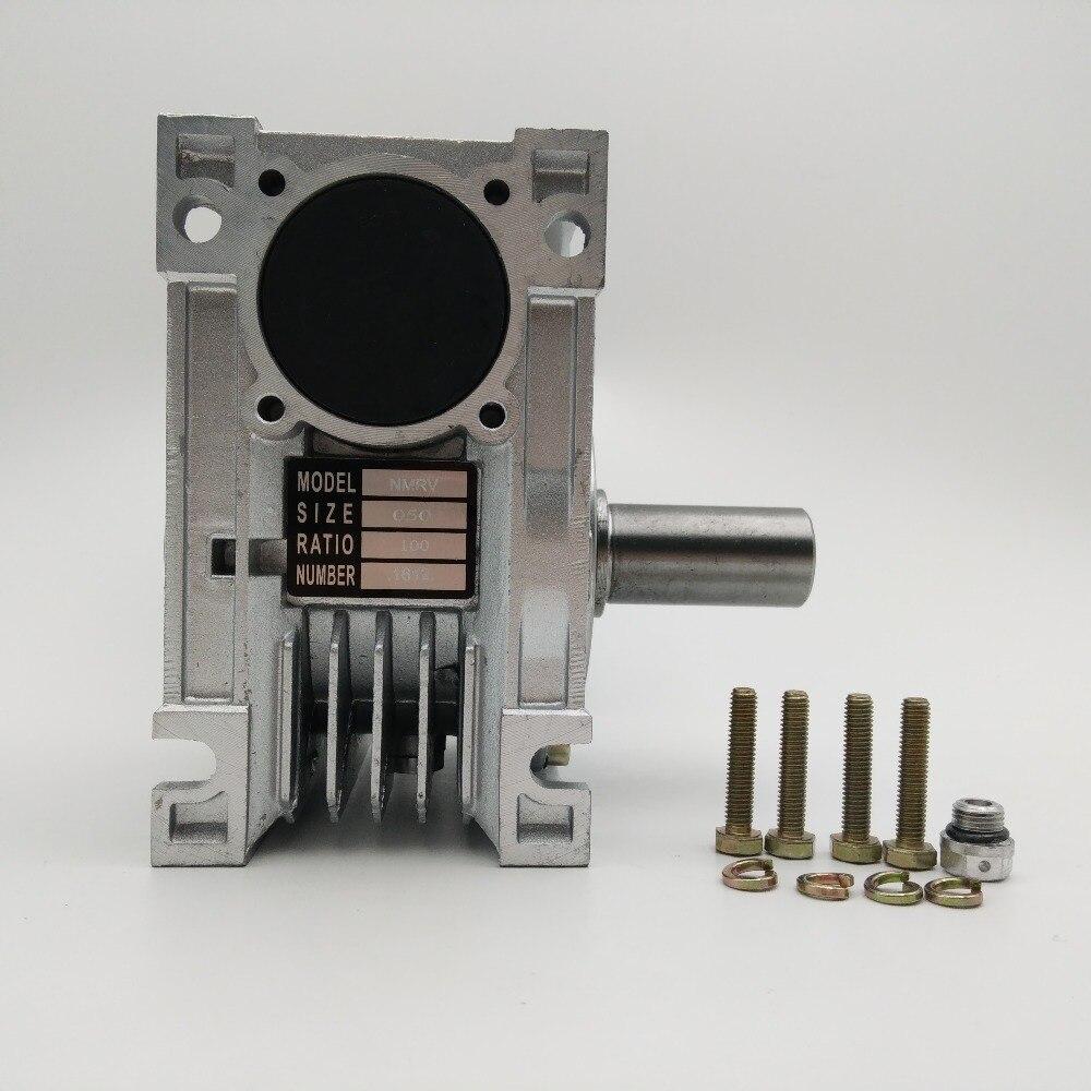 Tamaño 63 ángulo recto Gusano Gearbox 7.5:1 ratio 373 Rpm Motor Listo Tipo nmrv