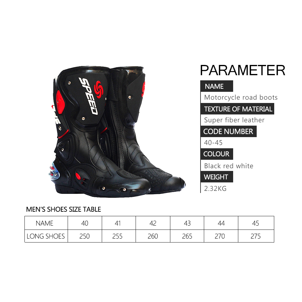 Image 3 - Men Motorcycle Boots Motocross Racing Speed Motorbike shoes Moto Boot Motorcycles Boots Men dirt bike Cycling Sports Botas-in Motocycle Boots from Automobiles & Motorcycles
