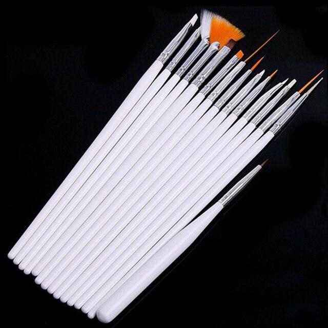 15 piezas profesional UV Gel acrílico uñas arte juego de brochas diseño Gel esmalte pintura dibujo pluma manicura uñas puntas herramientas nuevo Kit