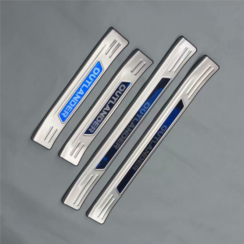 4pcs set stainless steel exterior door sill strip fit for - Exterior door threshold replacement parts ...