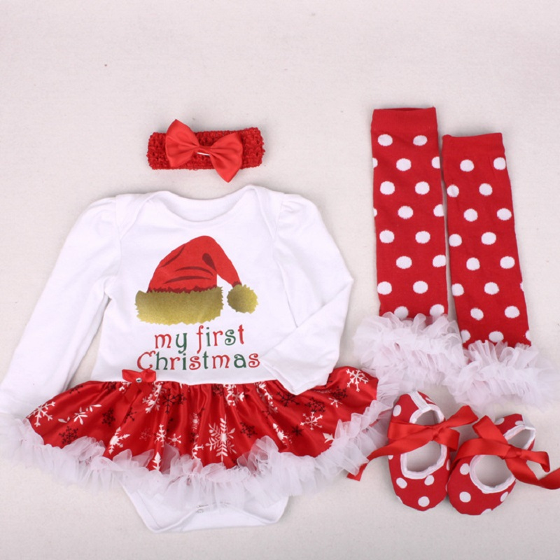 80580a6c9 Baby Girl Clothes Newborn Baby Romper My First Christmas Long Sleeve Lace Romper  Dress Bebes Xmas Party Cosplay Gifts 3-6-12-24M | All Things Baby
