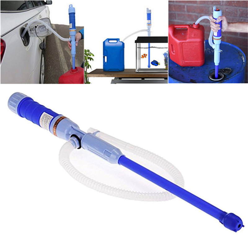 Image 2 - Liquid Oil Transfer Pump Water Pump Powered Electric Outdoor Car Vehicle Fuel Gas Transfer Suction Pumps Liquid Transfer Oil-in Inflatable Pump from Automobiles & Motorcycles