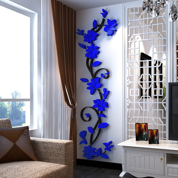 Flower Vine Wall Stickers Home Decor Large Paper Flowers Living Room Bedroom Wall Decor Sticker on The Wallpaper Diy Home Decals 10