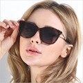 Armações de óculos de sol Grande quadro óculos de sol das mulheres óculos de sol da moda miopia pode instalar a lente óptica prescrição 8509
