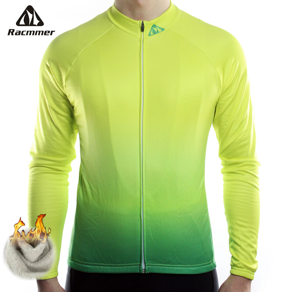 Racmmer Warm 2019 Pro Winter Thermal Fleece Cycling Jersey Ropa Ciclismo Mtb Long Sleeve Men Bike Wear Clothing Maillot #ZR-17