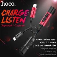 HOCO voor Bliksem naar 3.5mm Jack 2in1 Opladen Audio Adapter oortelefoon Hoofdtelefoon Kabel Audio Converter voor Apple iPhone 7/PLUS