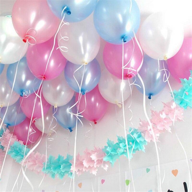 """Prodej Nový Velkoobchod 100ks 10 """"1,5g Barevné Pearl Latex Balloons Děti Svatební Narozeniny Party Dekor Marry Balloon"""