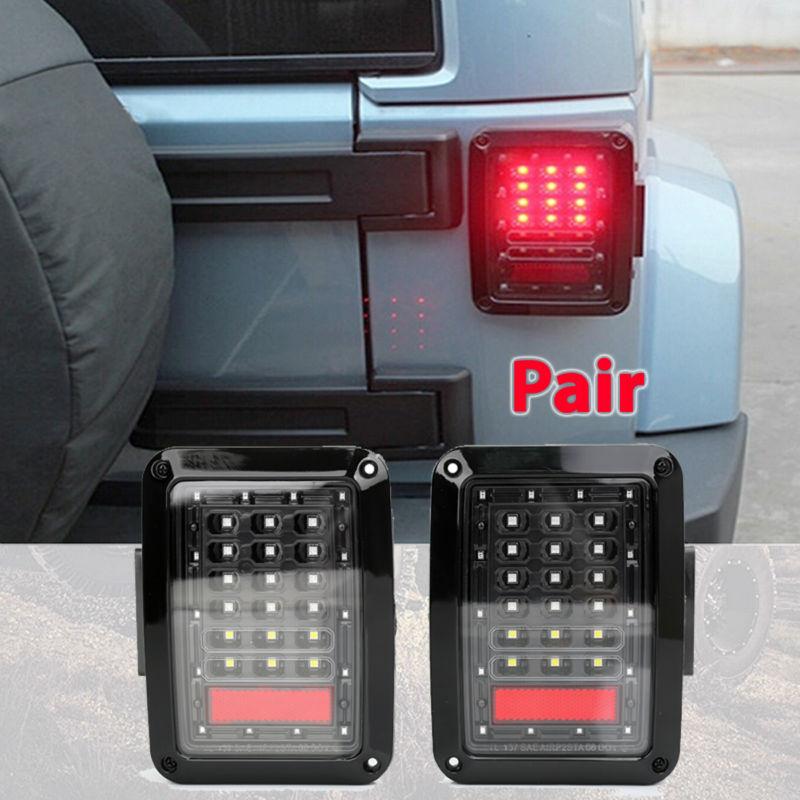 2шт Светодиодная автомобильная фара в JK стоп-сигнал свет заднего хода световой сигнал для Европы и США версия 2007~2015 Wrangler из светодиодов задний фонарь