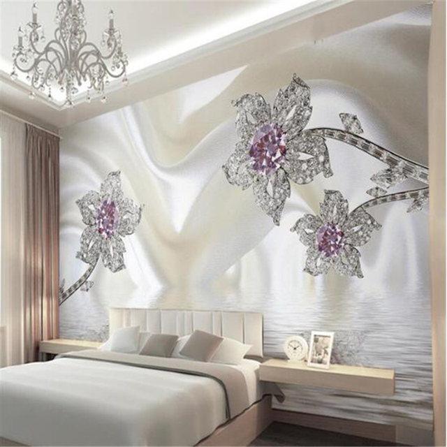 Beibehang Wallpapers Home Decor Photo Wall Paper Living Room Photography Diamond Hotel Bathroom Large Art