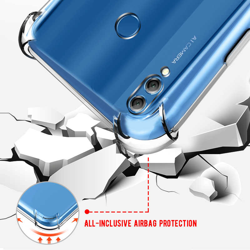 Anti-Knock Airbag Case For Huawei Y9 2018 P20 Mate 10 Mate20 Nova 4 3 TPU Soft Back Cover For Honor 10 9 Lite 8X Max 6C Pro Play