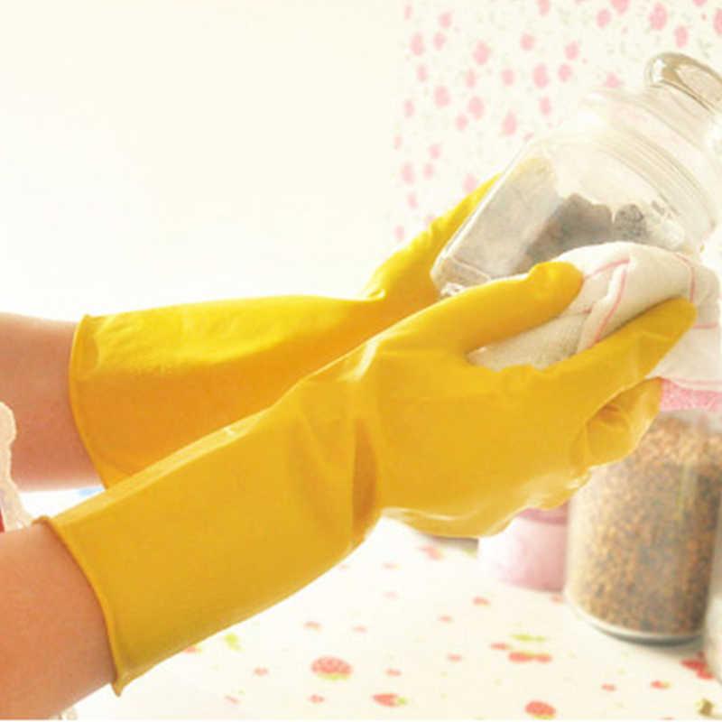 ラテックス防水家事キッチントイレストレージクリーニング手袋ノンスリップ冬の食器洗い服ゴム手袋