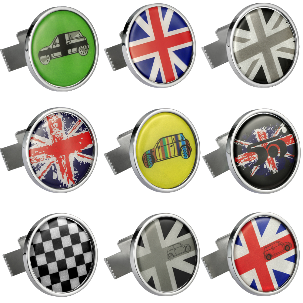 Metal 3D Front Bumper Grill Emblem Badge Sticker Car Styling For MINI Cooper JCW S One Countryman R60 R61 F56 F60 Accessories