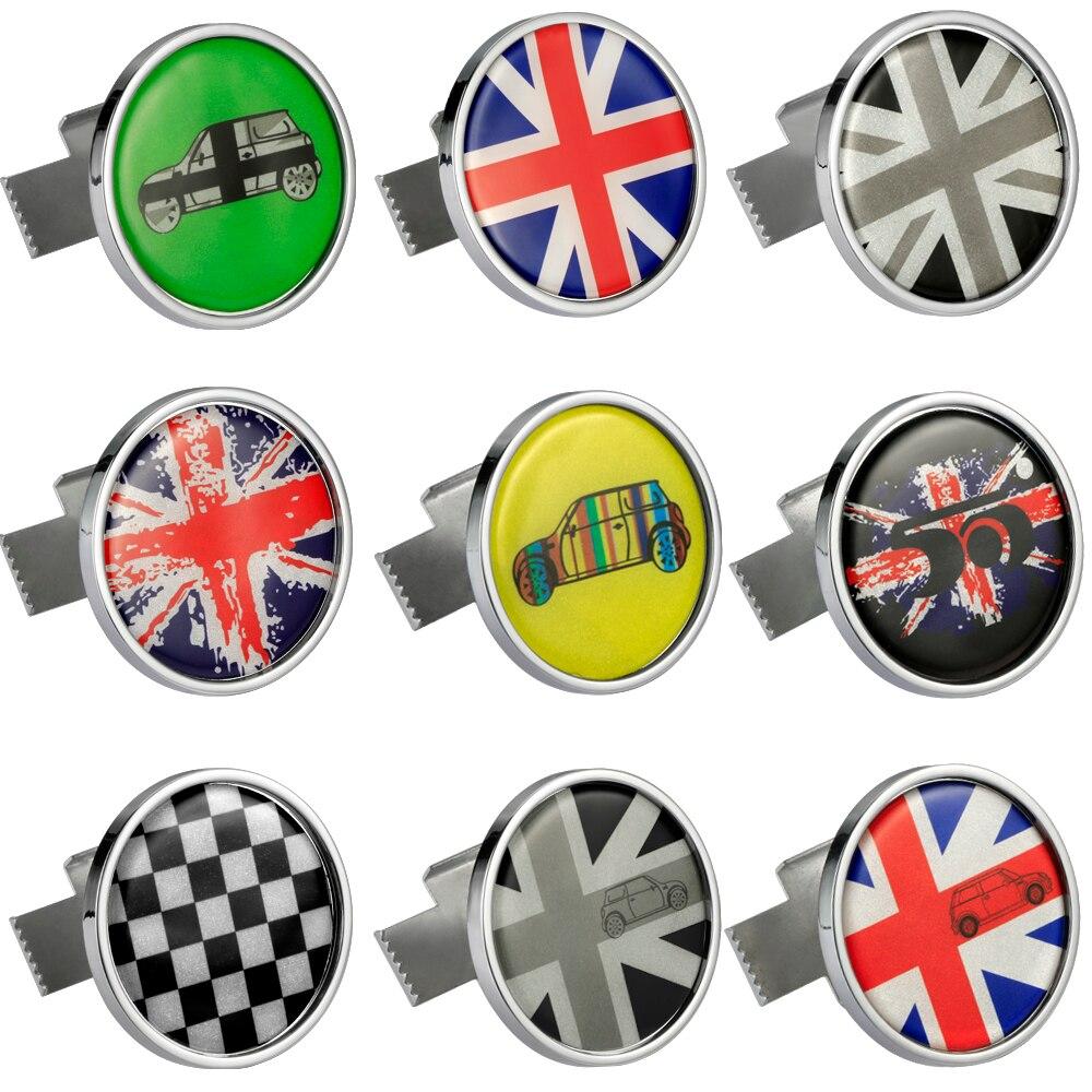 Metall 3D Frontstoßstange Grill Emblem Abzeichen Aufkleber Auto Styling Für MINI Cooper JCW Eine Countryman R60 R61 F56 F60 Zubehör