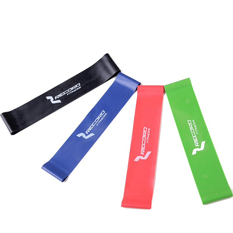 4PCS/Lot Elastic Band Tension Resistance Band Exercise Workout Ruber Loop Crossfit Strength Pilates Training Expander