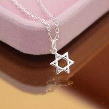 Nueva Estrella de David Magen Hebreo Escudo 925-sterling-silver Collares Collar | Estrellas Símbolo Judío Salomón Esterlina de Plata-Joyería