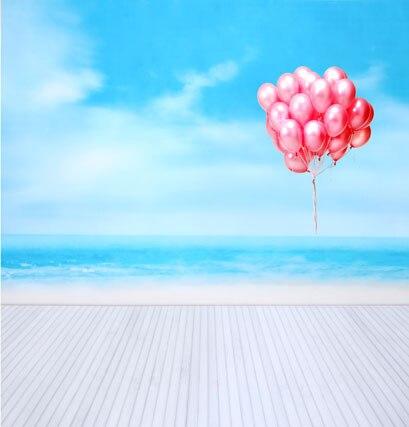Allenjoy 10*20feet(300*600CM) photography background fotografia photo background Wooden sea balloon photography backdrops