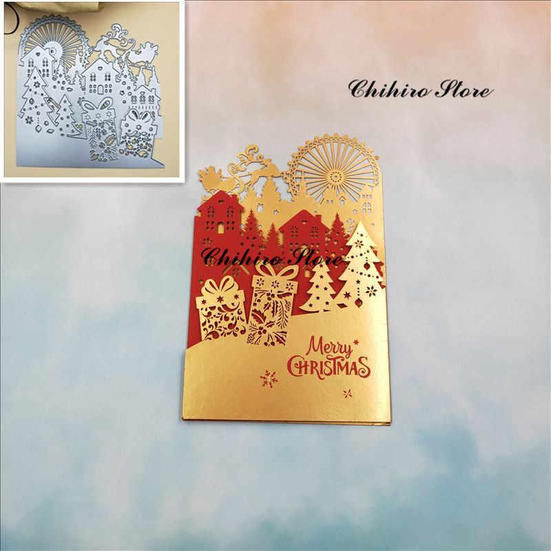 Christmas Greeting Card Making.Christmas Greeting Card Metal Cutting Dies Scrapbooking For