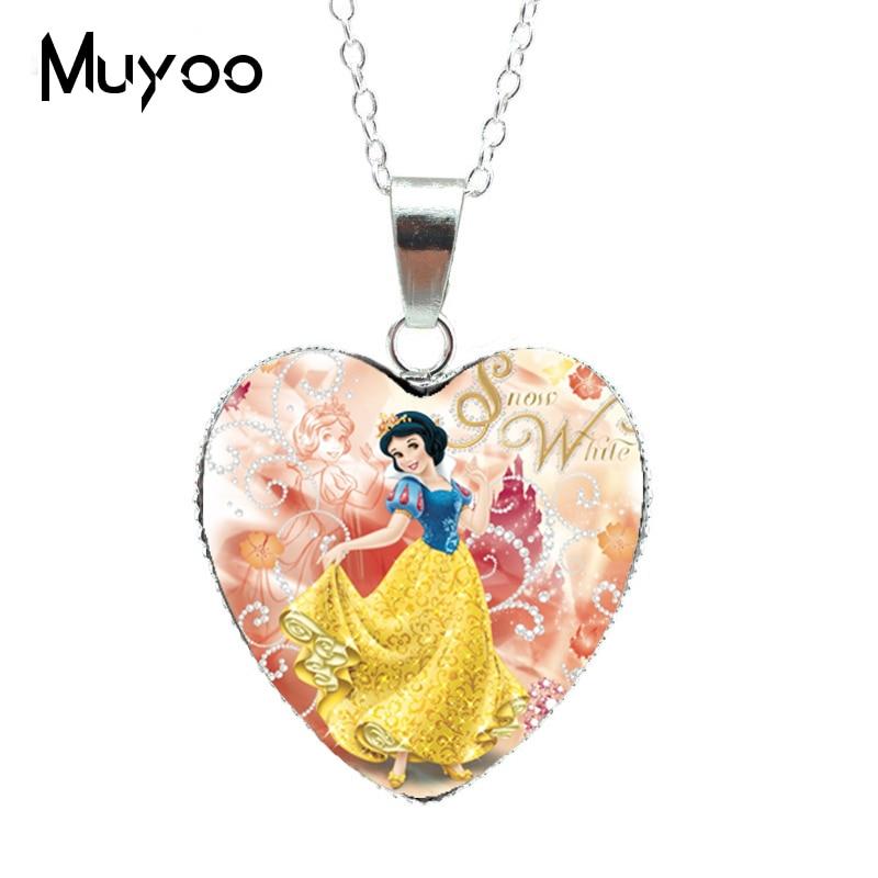 Новая модная красивая серебряная подвеска в виде сердца для принцессы Эльзы, Снежной королевы, ожерелье, ювелирное изделие, подарок для девочки HZ3