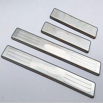 Dla Mazda BT-50 bt50 2012 drzwi ze stali nierdzewnej nakładki na progi listwa progowa Auto Car Styling naklejki akcesoria 4 sztuk